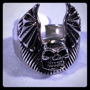 Other - Skull bat wing ring, NEW